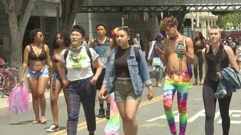 En medio de un gran dispositivo de seguridad se celebró al orgullo gay e...