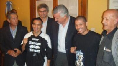 Narváez y Cabrera no tuvironproblemas con la báscua (Foto: HG Boxing)