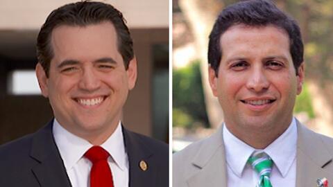 El representante republicano Matt Rinaldi (Izquierda) y el demócr...
