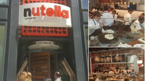 Abre la primera cafetería de Nutella en el país