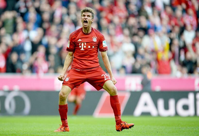 Thomas Müller del FC Bayern ha anotado 8 goles, y está empat...
