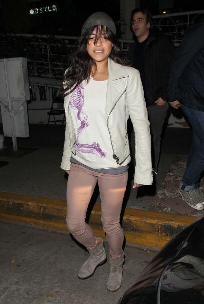 Michelle Rodriguez pasó una noche divertida en Los Angeles.