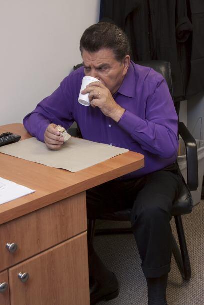 Y un cafecito para los nervios no podía faltar,