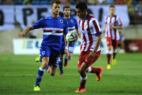El Atlético fue superior a Sampdoria a pesar de la ausencia de va...
