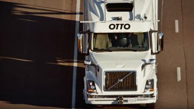El camión de Otto recorrió 120 millas sin un tripulante humano detrás de...