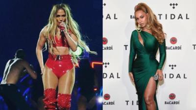 En fotos: Jennifer López y Beyoncé vuelven a impactar con sus looks en un concierto en Nueva York