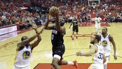 Rockets venció a Warriors e igualó 1-1 la final de Conferencia Oeste de NBA