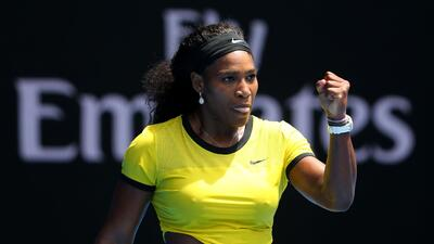 Serena Williams supero en cuartos a Sharapova