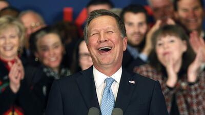 John Kasich celebra su resultado en New Hampshire