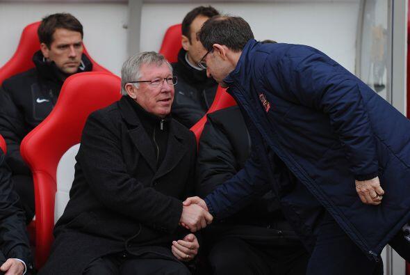 Al mismo tiempo se jugaba el partido entre Manchester United y Sunderlan...