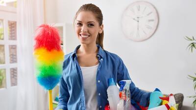 Quema calorías haciendo las tareas domésticas