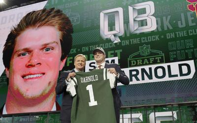 Sam Darnold de USC es el nuevo quarterback de los New York Jets.