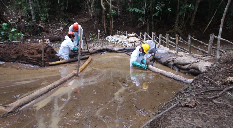 El primer vertido se produjo el 25 de enero en el distrito de Imaza, en...