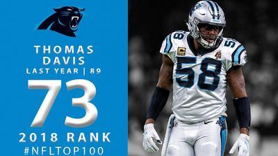 #73 Thomas Davis (LB, Panthers)   Top 100 Jugadores NFL 2018
