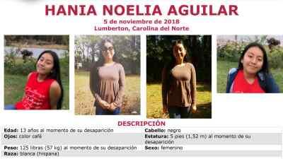 Elevan a $20,000 la recompensa por información sobre la adolescente hispana secuestrada en Carolina del Norte
