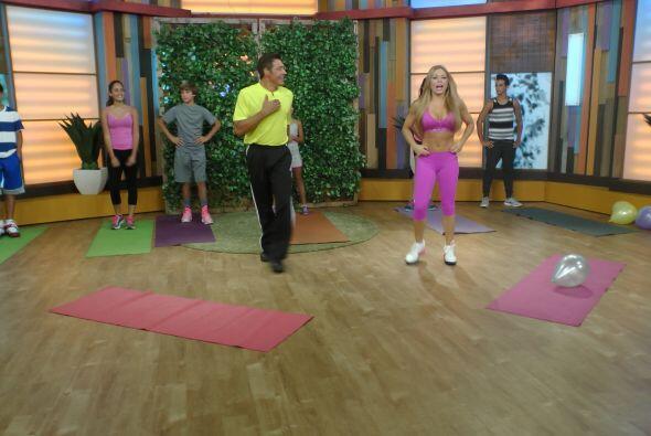 Esta mañana, Claudia Molina nos enseñó a ejercitarnos como cuando éramos...