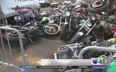 Triturarán motocicletas ilegales decomisadas en El Bronx