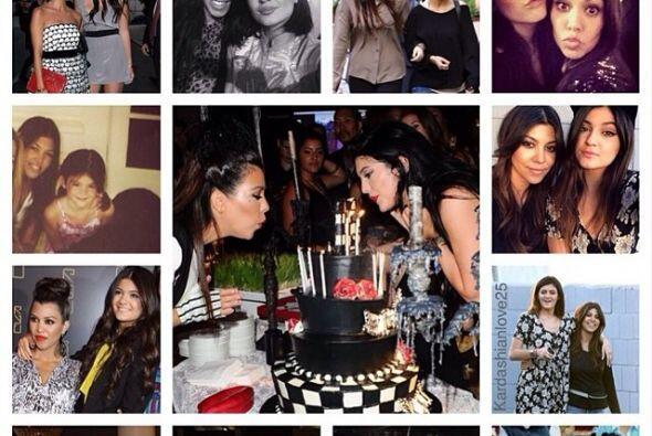 Todas las hermanas Kardashian subieron imágenes de su convivencia...