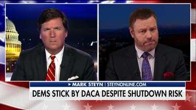Tucker Carlson y Mark Steyn durante el segmento.