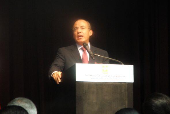 ABRIL  El ex presidente mexicano, Felipe Calderón, visitó Houston para r...