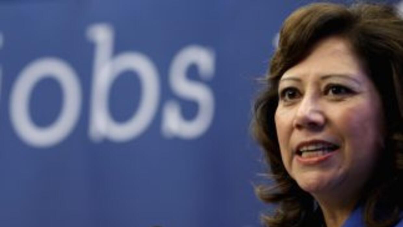 Hilda Solis, secretaria de Trabajo de la Administración Obama desde 2009...