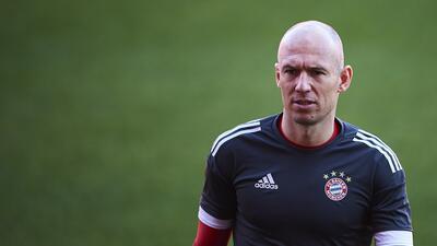 Arjen Robben podría perderse el 'Klassiker' contra el Dortmund