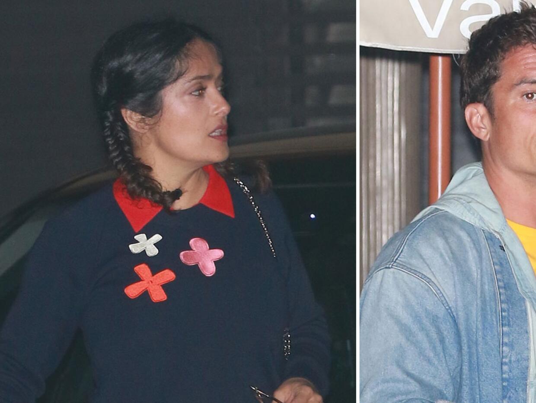 Salma y Orlando fueron vistos juntos en Los Angeles.