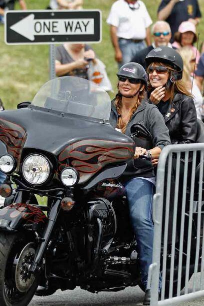 Y Palin aprovechó la ocasión para acercarse al público.