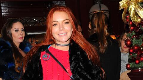 Lindsay con otro atuendo atrevido.