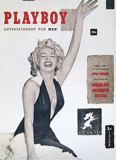 Marilyn Monroe en la portada de la primera edición de la revista en dici...