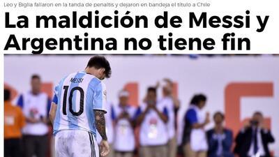 Así reaccionó la prensa tras el título de Chile y la nueva desilusión de Argentina