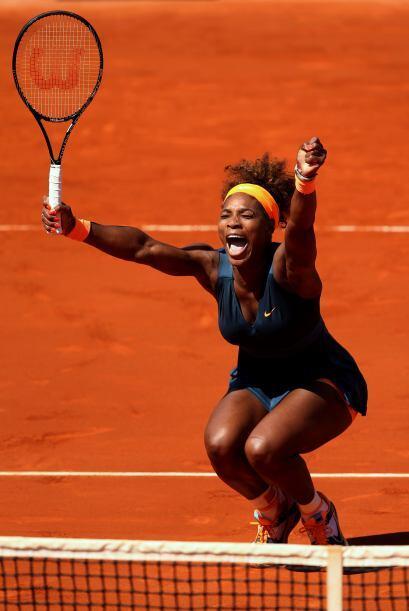 Serena encadenó cinco juegos consecutivos, incluidos dos con el servicio...