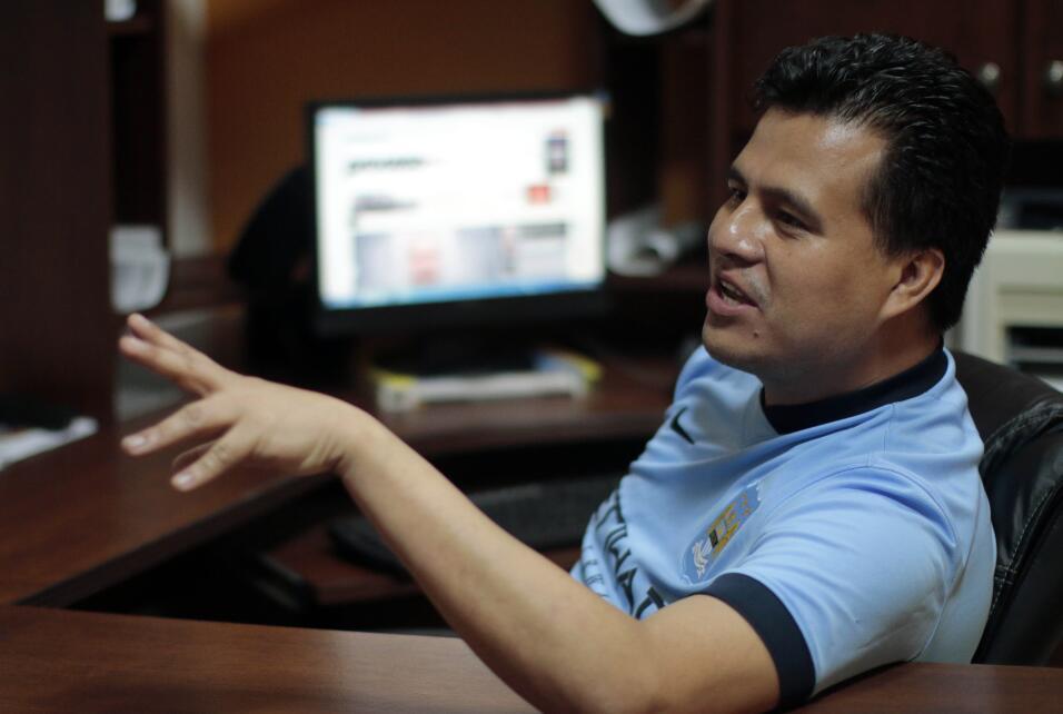 El corresponsal de la revista Proceso, Noé Zavaleta, en Xalapa. Noé sust...