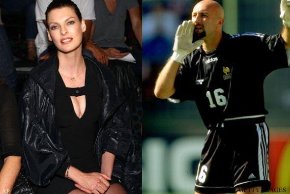LINDA EVANGELISTA Y FABIEN BARTHEZ: Comenzaron su relación en 1998 y se...