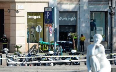 Imagen del centro de Barcelona, donde se ha producido el atropello