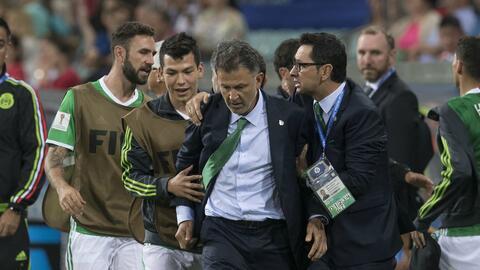 Juan Carlos Osorio ha sido arropado por el plantel.