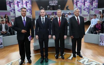 De izquierda a derecha, Jaime Rodríguez 'El Bronco', Ricardo Anay...