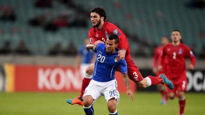 Sebastian Giovinco con Italia vs Azerbaiyán