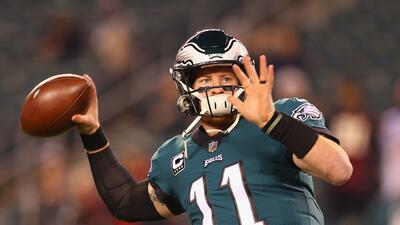 Carson Wentz es duda con Philadelphia para el juego ante los Rams