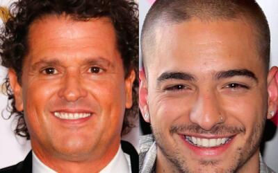 """Carlos Vives califica algunas canciones de Maluma (derecha) como """"p..."""