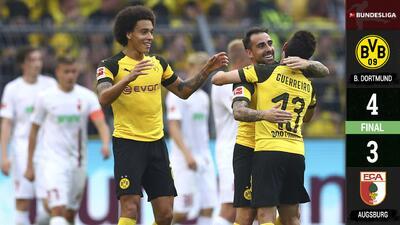¡Heroico! Paco Alcácer logra un espectacular 'hat-trick' para guiar la voltereta del Dortmund