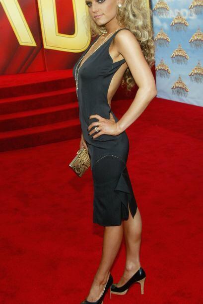 Súper flaquita en los MTV Movie Awards de junio, 2005.