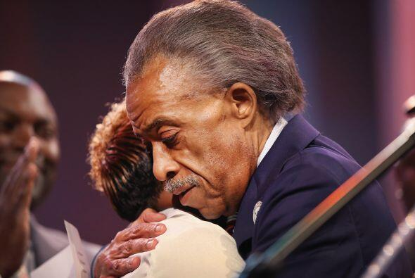El reverendo afroamericano Al Sharpton, que manifestó que la muerte del...