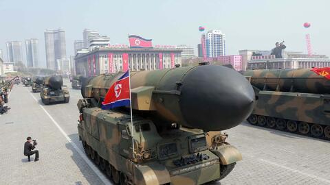 En abril Corea del Norte celebró el 105 aniversario de su fundador con u...