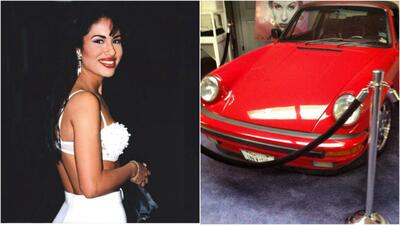 Selena y su auto