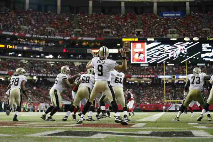 Los New Orleans Saints vencieron 20-17 Aa Atlanta Falcons en lo que pudo...