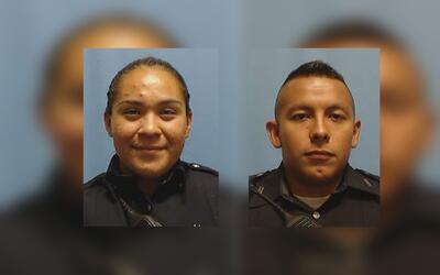 Los policías de Dallas, Crystal Almeida y Rogelio Santander, resu...
