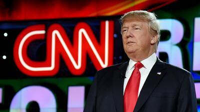 Trump en un debate organizado por CNN en 2015