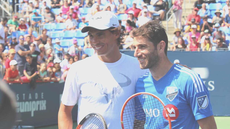 Ignacio Piatti y Rafael Nadal compartieron el tenis por un rato.