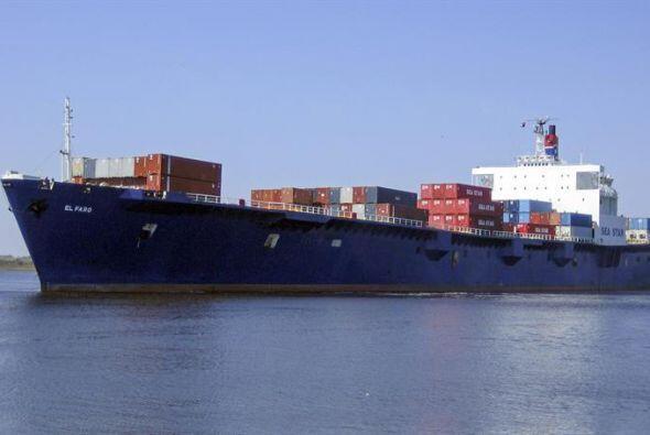 El barco El Faro, que desapareció al paso del meteoro por las Bahamas.